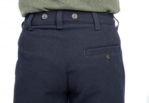 Särmä Worker Trousers, Wool. A view of the seat pocket and suspender buttons.
