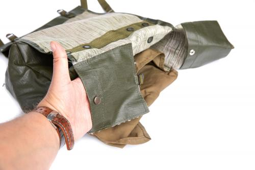 Czech M85 Shoulder Bag, surplus. The weather flaps have snap-fasteners and can be used as small pockets.