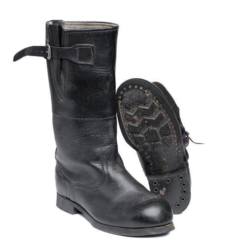 Soviet fireman's leather boots #1