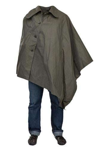 Dutch Rain Poncho, Olive Drab, surplus