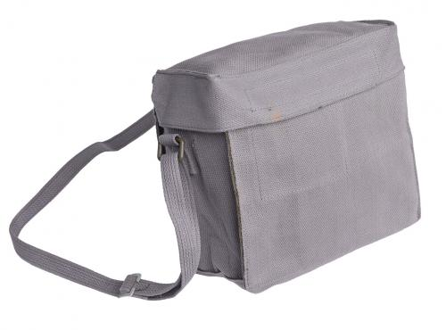 Danish gasmask bag, gray, surplus