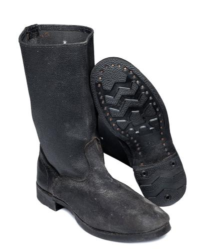 Soviet socialist style worker boots, surplus
