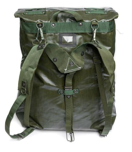 Czech M85 vinyl rucksack, surplus. The Y-straps are removeable and they are indeed also used this way.
