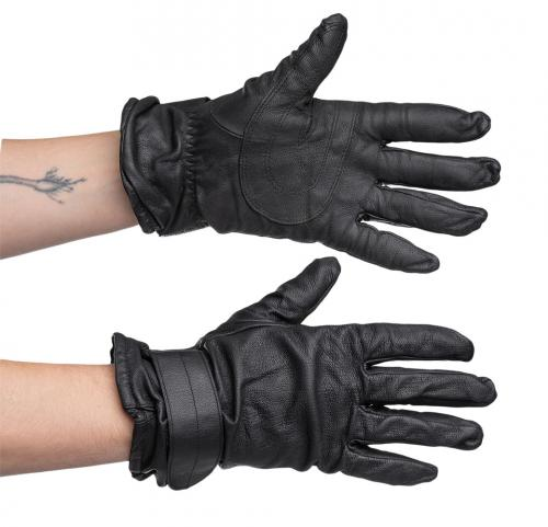 Austrian leather gloves, lined, surplus
