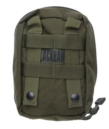 Blackhawk Medical Pouch, green, surplus. Attaches to a 3x4 area of PALS webbing.