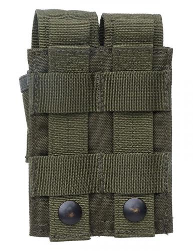 Blackhawk Double Pistol Mag Pouch, green, surplus.