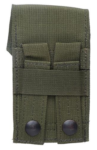 Blackhawk Compass/Strobe Pouch, green, surplus. Attaches to a 2x3 area of PALS webbing.