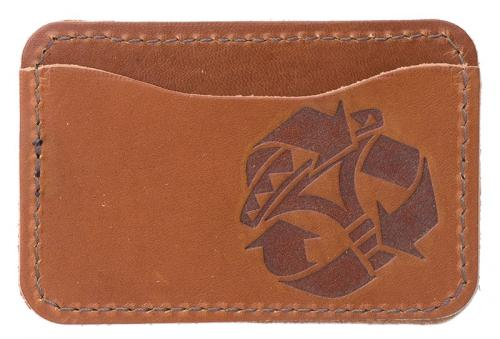 Jämä Card Wallet, Leather. Honey