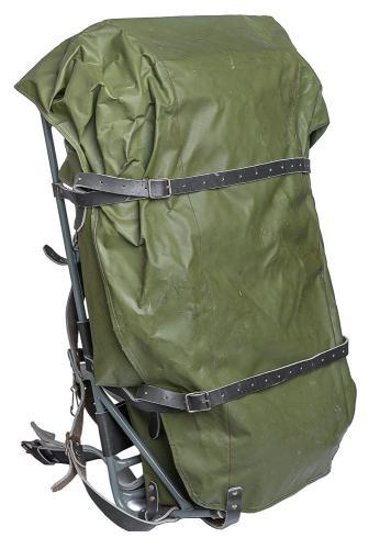 Finnish external frame rucksack, green, surplus
