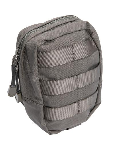 Swedish SVS 12 Combat Vest With Pouches, Green, surplus. General Purpose Pouch, Small. 2-way zipper and an elastic inner pocket.