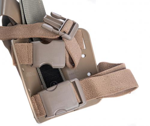 Safariland 6004 SLS Tactical Holster, Beretta 92, Coyote Brown, surplus.