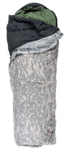 US IMSS Modular Sleeping Bag System, black/green, w. UCP Gore-Tex cover, surplus
