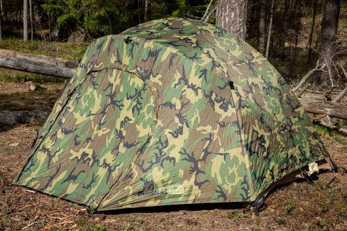 US Two-person Tent, Woodland, surplus