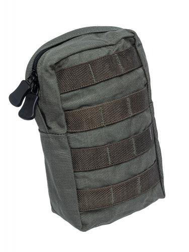 Paraclete Upright General Purpose Pouch, Medium, Smoke Green, surplus