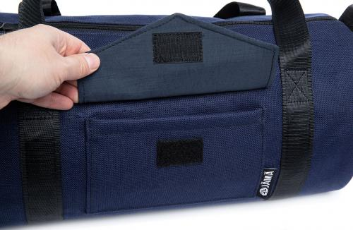 Jämä Duffel Bag. There is a small velcro pocket on one side.