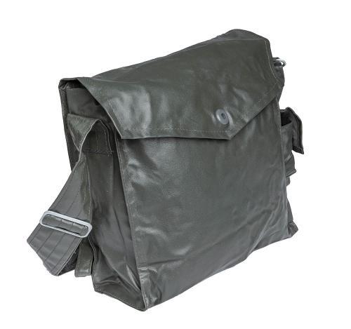 NVA gas mask bag, rubberized, surplus