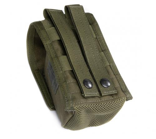 Blackhawk Double G36 Mag Pouch, green, surplus. Note the mesh bottom. Sooo quick to dry.