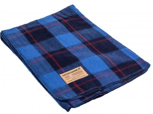Mountainhill blanket, soothing blue tartan