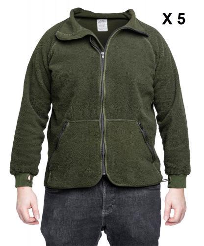 Dutch KL Flame Resistant Bear Shirt, Polyester, Surplus, 5-pack