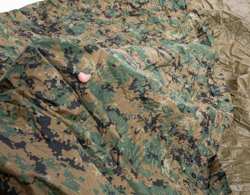 USMC Tarp, MARPAT/Coyote, Surplus. These might well have holes and tears! These can be quite easily repaired.