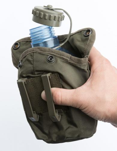 Austrian Canteen with Pouch, Transparent, Surplus.