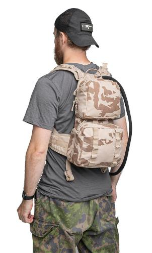 Czech Daypack with Hydration Bladder, Desert Vz95, Surplus. Nice small pack for urban holidays, jogging, and shorter hikes.