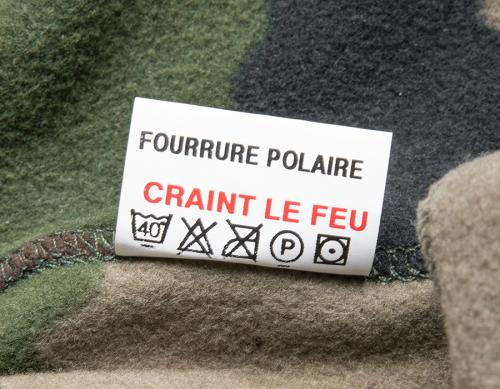 "French F2 Fleece Shirt, CCE, Surplus. ""Afraid of fire"" - this garment is NOT flame retardant. Just ordinary fleece."
