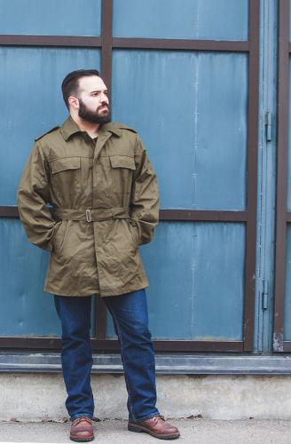 Czech parka with liner, olive green, surplus.