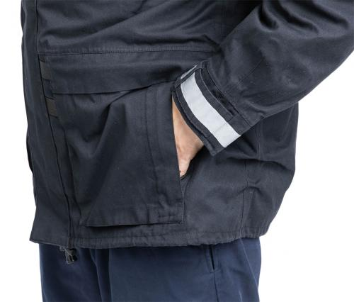 Dutch Field Jacket w. Membrane and Liner, Blue, Surplus. Side pockets for your hands and stuff.