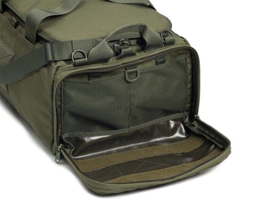 Savotta Keikka 50L Duffel Bag. Zippered head pouch for A4 / letter sized documents and organizing of smaller items.