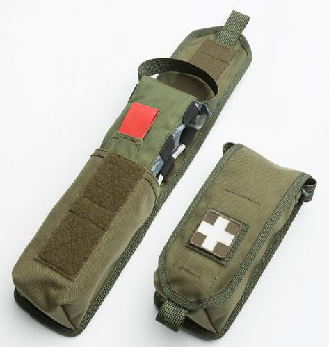 Särmä TST RK Magazine / Multipurpose Pouch. IFAK pouch configuration using an IFAK insert and medical patch (insert and patch sold separately).
