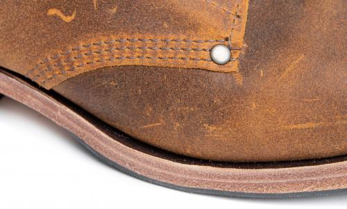 William Lennon B5 Ankle Boots. Blake construction, triple stitching with brass rivets.