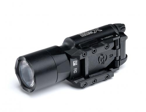 SureFire X300U-A 1000 lm Weaponlight. Mount or dismount without tools. The locking lug is replaceable.