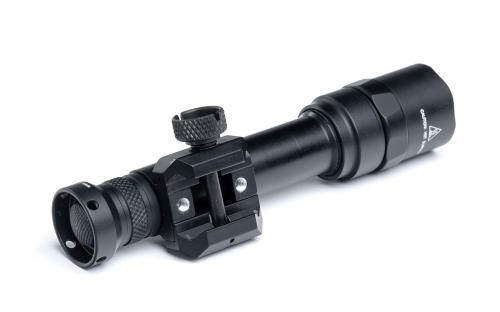 SureFire M600U Scout Light 1000 lm Weaponlight. Two holes with 8-32 threads for alternative mounting options.