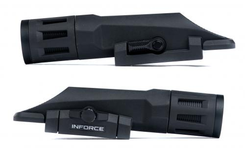 Inforce WMLx 800 lm Weaponlight. A switch for making the light dead-simple at any time.