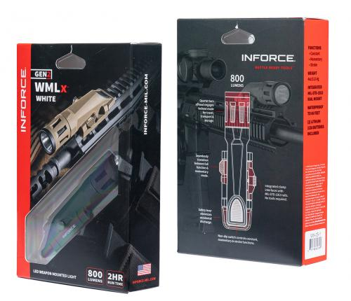 Inforce WMLx 800 lm Weaponlight.