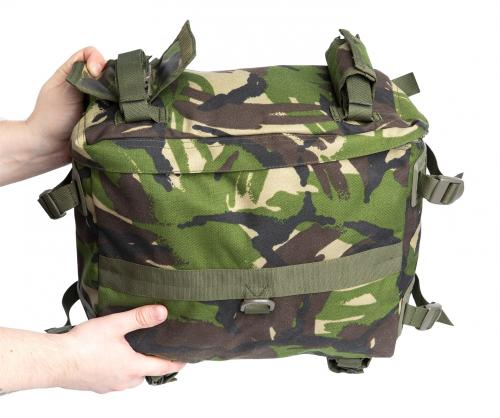 Romanian Combat Rucksack with Daypack, DPM, Surplus, Unissued. Included is a compact daypack.