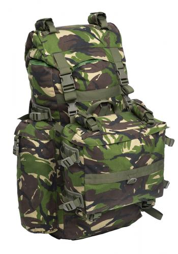 Romanian Combat Rucksack with Daypack, DPM, Surplus, Unissued. The combinedcapacity of the backplack plus daypack is 90 liters.