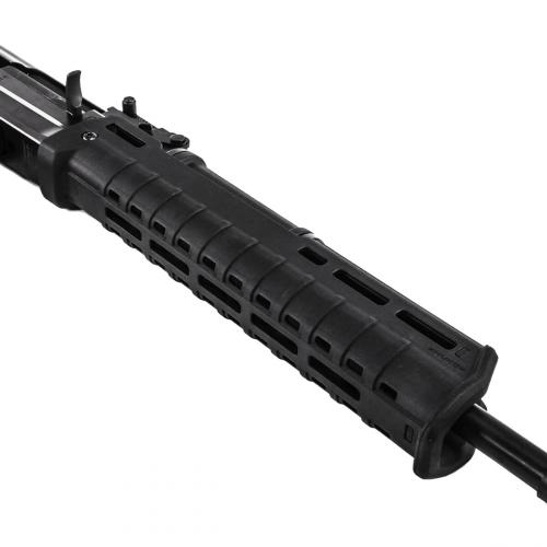 Magpul Zhukov Hand Guard, AK47/AK74. Slots for M-LOK accessories and Picatinny rail sections on both sides and below.