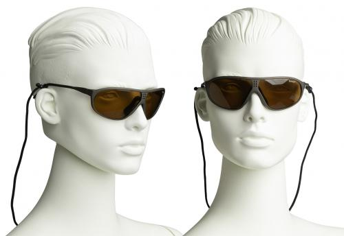 Swiss Suvasol Sun Glasses, with Case, Surplus. These sunglasses come with a black neckband.