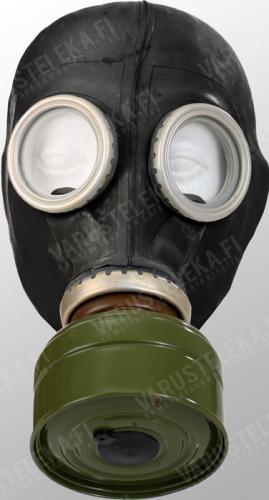 Soviet GP-5 gasmask with bag, black, surplus