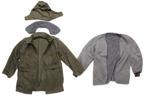 Czech parka with liner, olive green, surplus. One parka, many parts - can be tailored to fit any occasion!