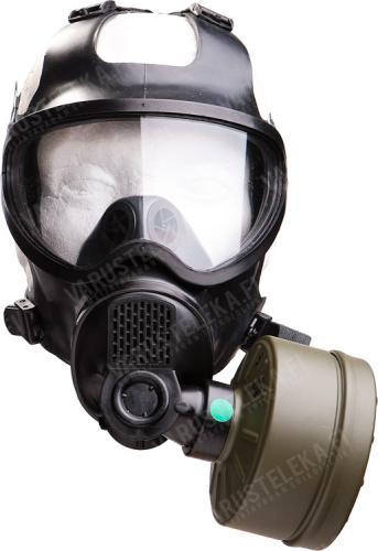 Belgian BEM 4 GP gas mask with carrying bag, surplus