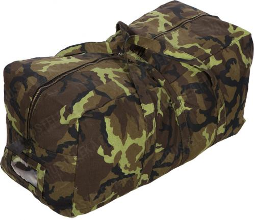 Czech duffel bag, camo, surplus