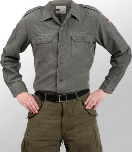 BW service shirt, olive drab, surplus